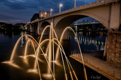Water Canons at Night