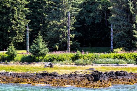 Totem Poles river view