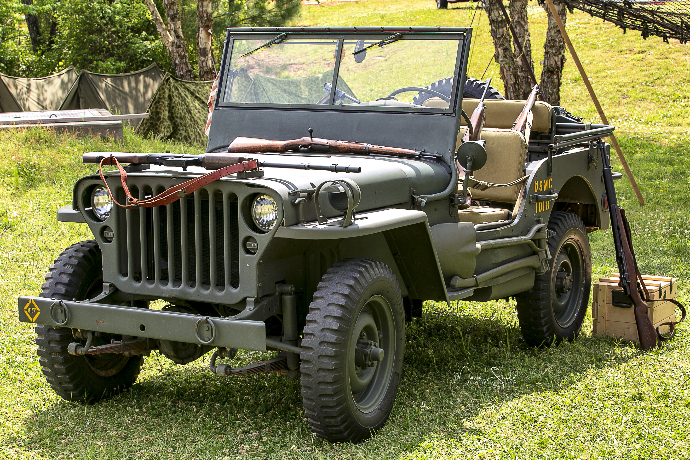 WWII jeep camp