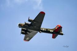 WWII B-17 up sky