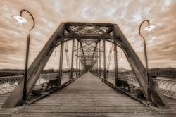 Walnut St Bridge Lights sepia