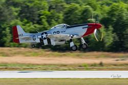 P-51 Mustang take off