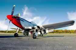 Mustang P-51 sunrise