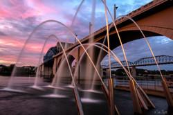 Water Canon Bridge Sunset