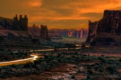 Park Avenue Arches NP sunset