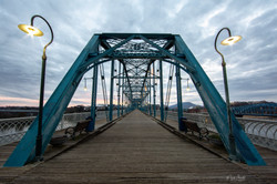Walnut St Bridge Sunset Walk