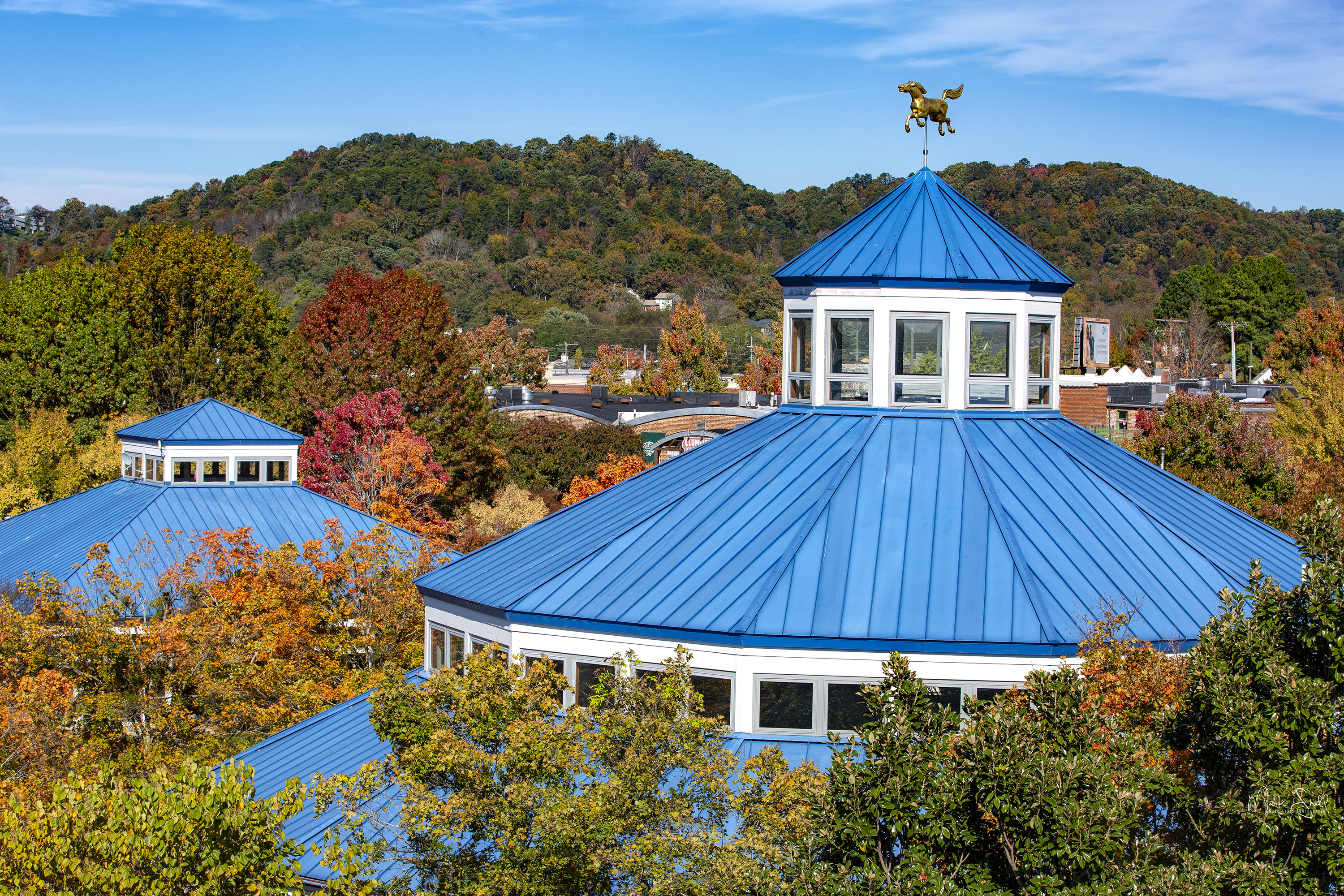 Coolidge Park fall roof tops