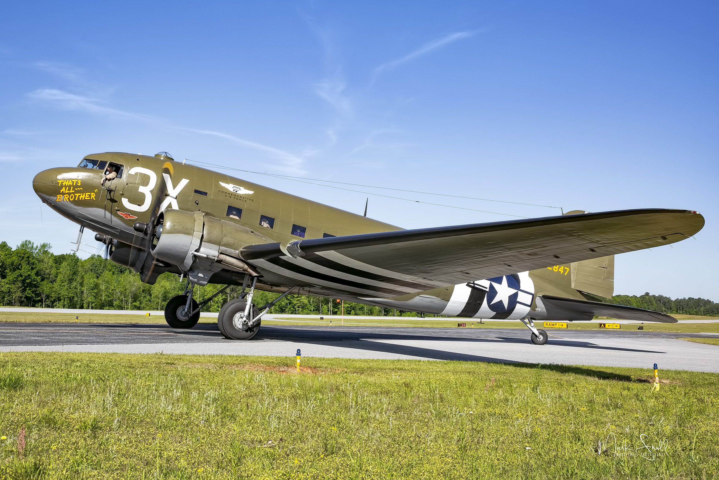 C-47 3X ready for takeoff post