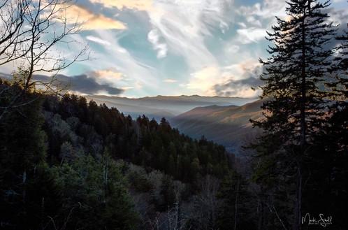 Sunrise Newfound Gap Smoky Mountain NP