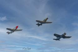 Fighter Trio Formation
