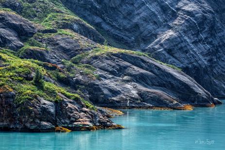 Glacier Bay aqua shore