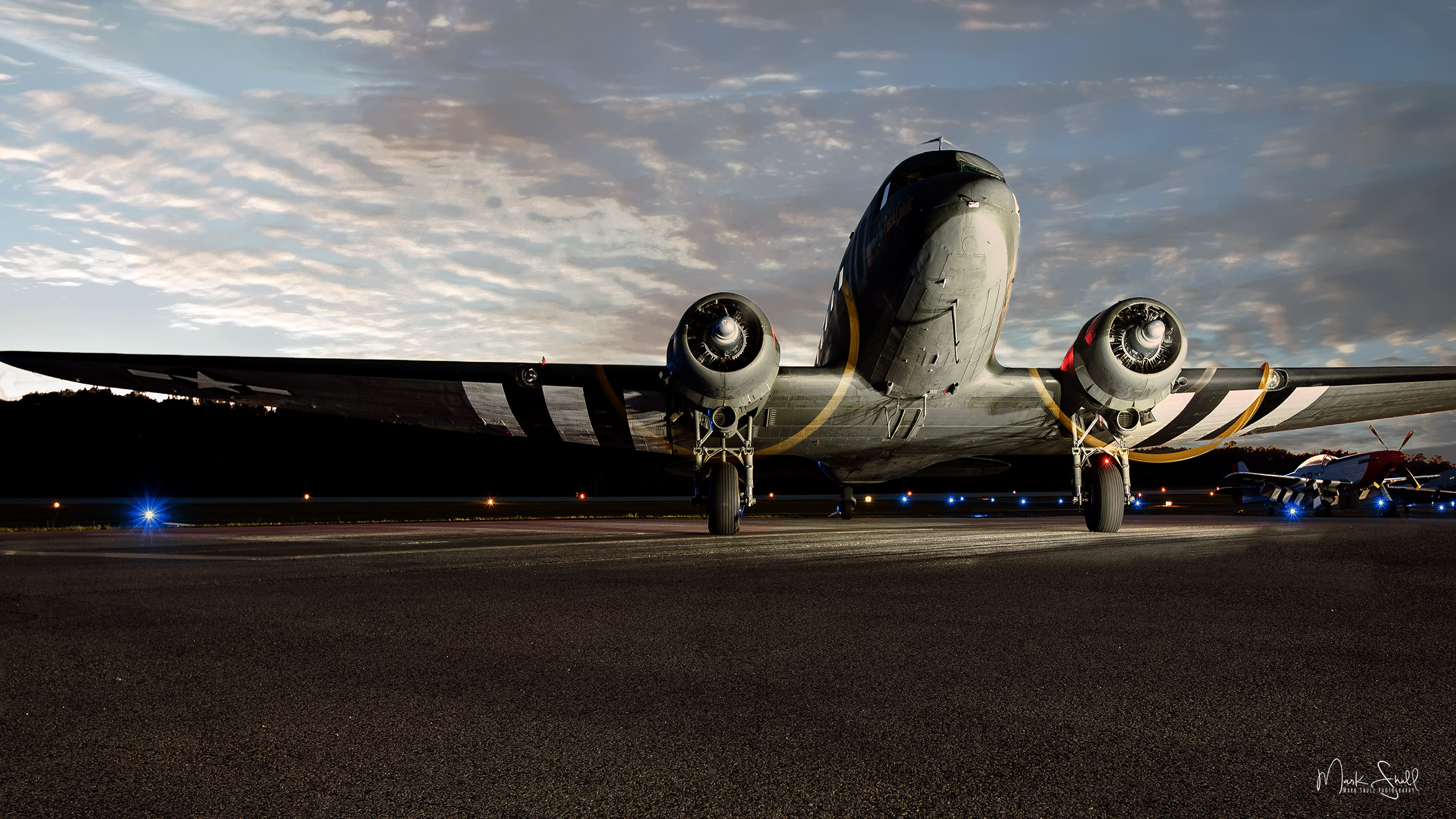 C-47 D-Day troop carrier sunset