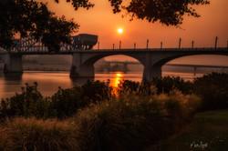 Sunset Haze Bridge glow
