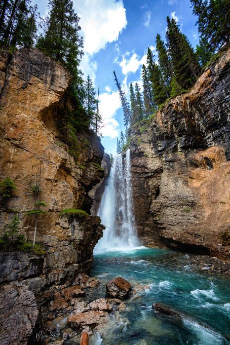 Johnston Canyon Upper Falls wide