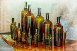Wine Bottles Napa Vinyard