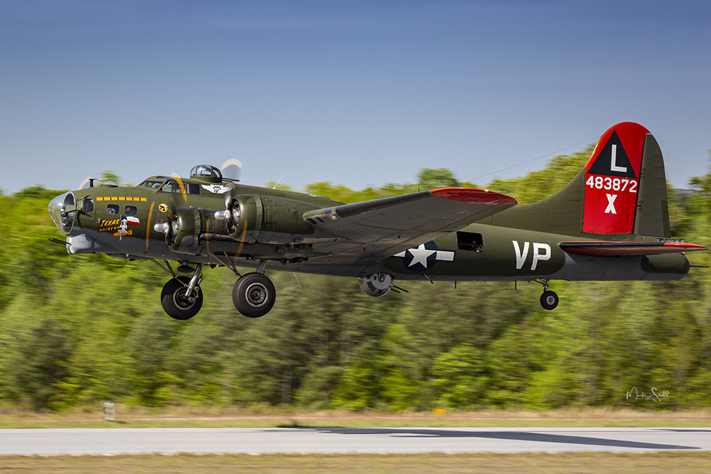 WWII Days B-17 take off