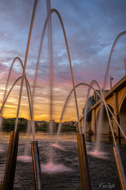 Water Canons sunset upright
