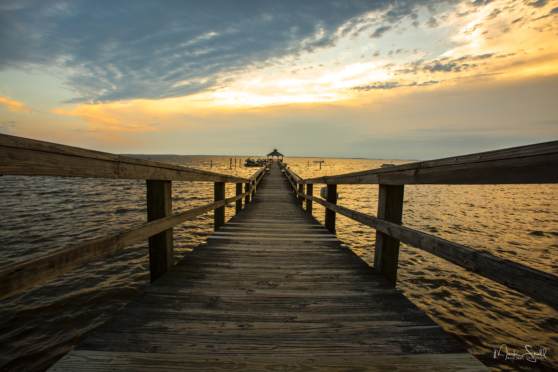 Cape Fear sunset post