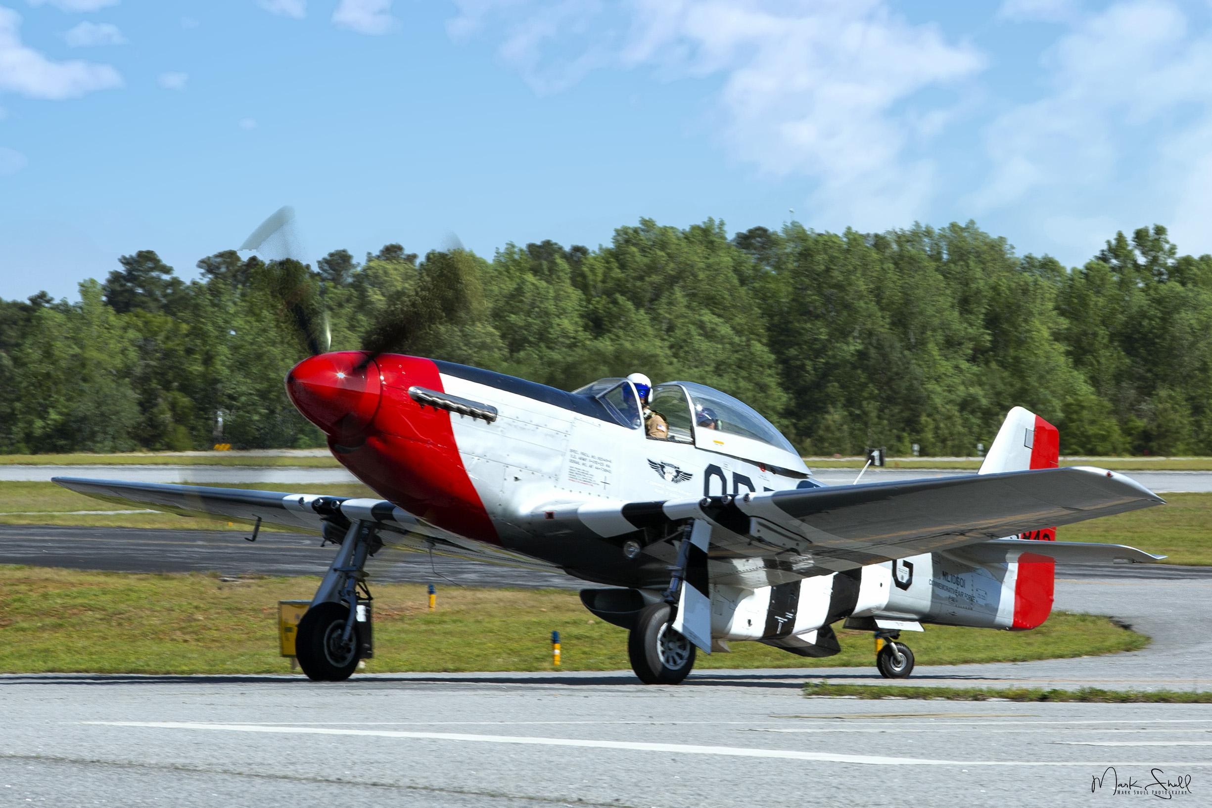 P-51 Mustang midday landing