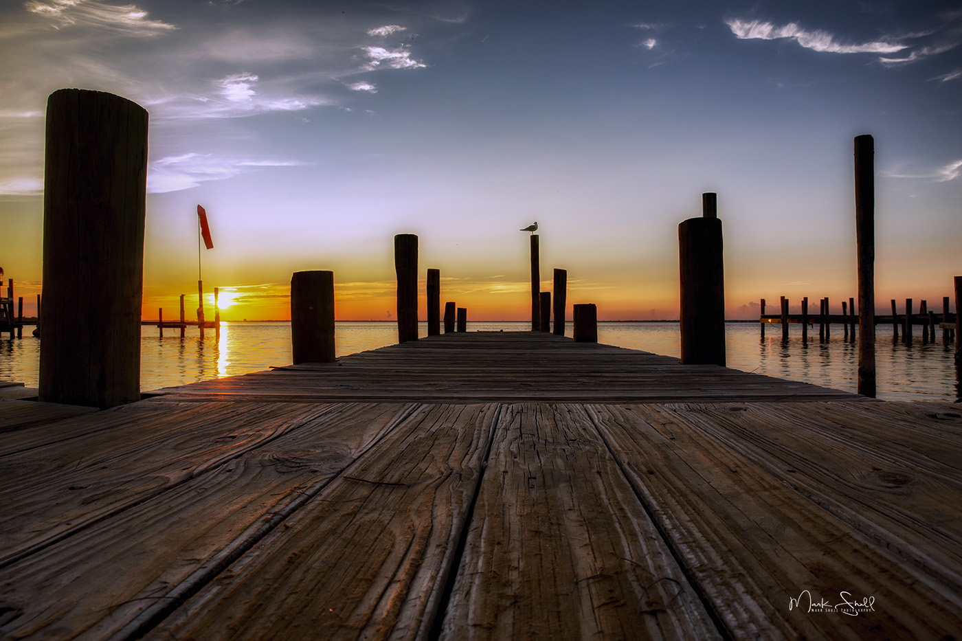 Destin Dock sunset clr A post