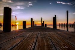 Destin Dock sunset clr A post