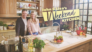 John & Lisa's Weekend Kitchen  Cookery show with John Torode and Lisa Faulkner, featuring recipes, shortcuts, inspiration and tips.  Ep 3 Broadcast via ITV1 at 11:30am on Sunday 14th April 2019.  The menu on this episode includes one pan spicy roast lamb and pear tarte tatin. Plus, The Great British Bake Off's John Whaite showcases his lemon drizzle cake and food writer Ching He Huang prepares teriyaki salmon. Ep 7 Broadcast via ITV1 at 11:30am on Sunday 12th May 2019.  Featuring recipes for duck pancakes with a homemade plum sauce, egg fried rice, Goan fish skewers, and lime and passionfruit pie.  Cut on Avid at Television Centre, London.