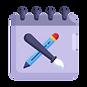 calendar_school_pencil_brush_art_icon_14