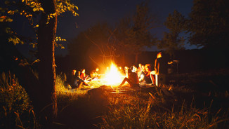 Camp fire sing along.