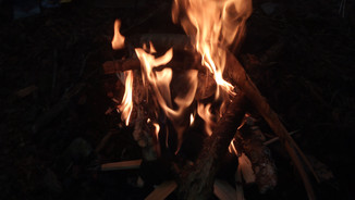 A gorgeous camp fire at night!