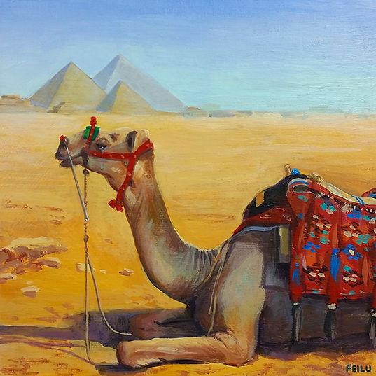 Camel Tears, Egypt, Fei Lu Art