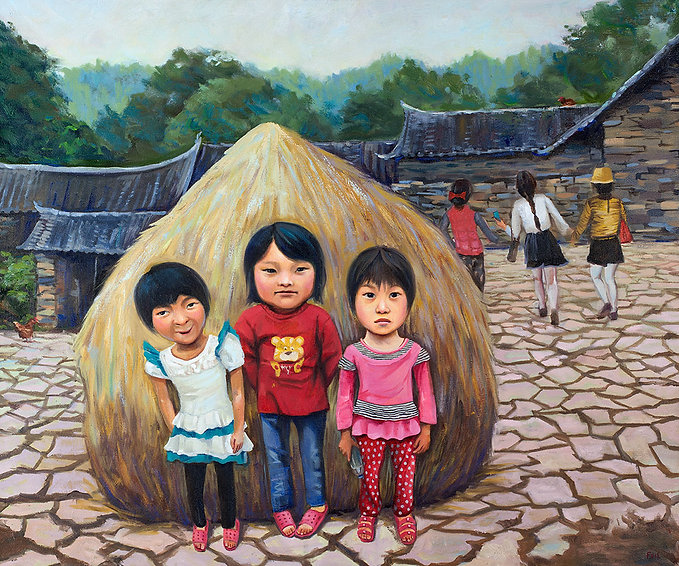 Forgotten Girls, Stone Village, Henan, China, Fei Lu Art