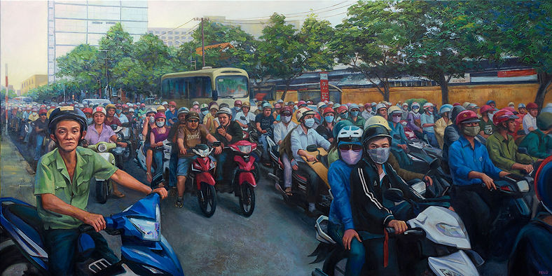 Traffic, Ho Chi Min, Vietnam , Fei Lu Art