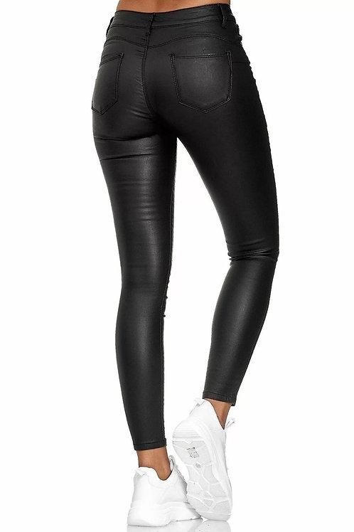 Vegan Leather Stretch Pants