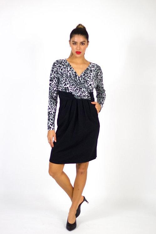 Asymmetrical Long Sleeve Dress