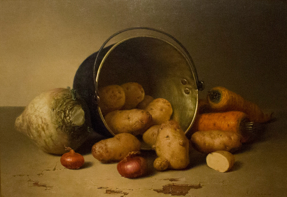 Still Life with Root Vegetables, Robert Spear Dunning, 1879