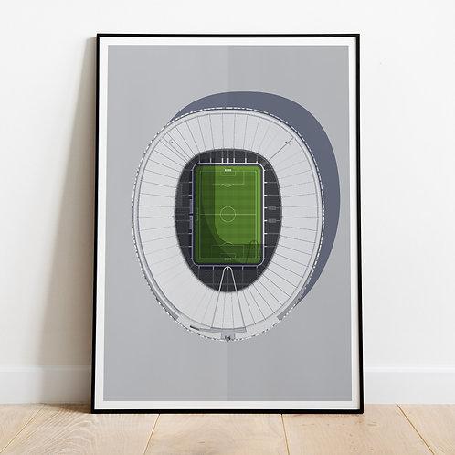 Tottenham Hotspur Spurs Stadium Print