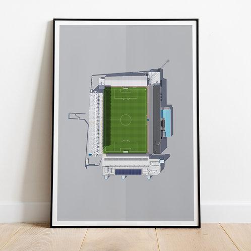 Peterborough United London Road Stadium Print
