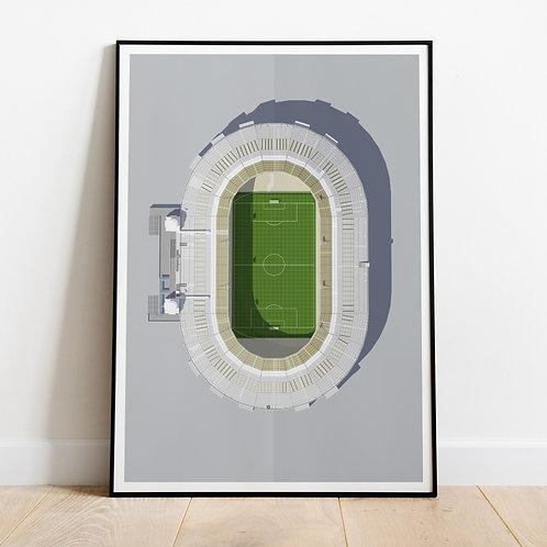 Original Wembley Stadium Print