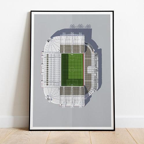 Manchester United Old Trafford Stadium Print