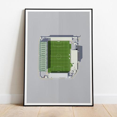 Lincoln City Sincil Bank Stadium Print