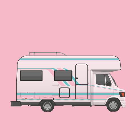 The Pink Camper of Mojacar