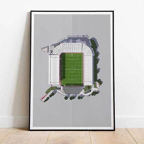 Charlton Athletic The Valley Stadium Print