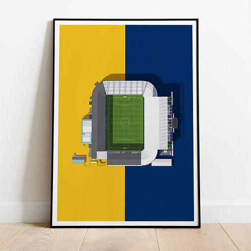 Leeds United Elland Road Stadium Print