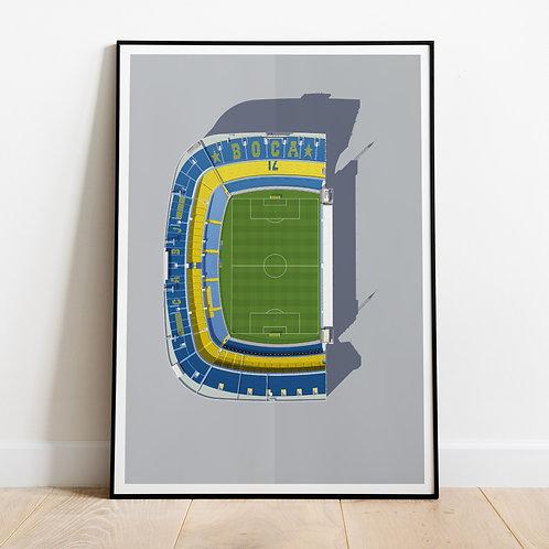 Boca La Bombonera Stadium Print