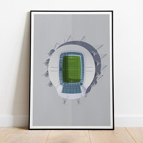 Manchester City Etihad Stadium Print