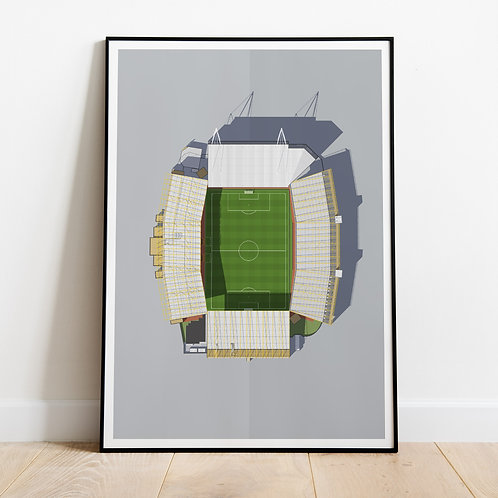 Wolverhampton Wanderers Molineux Stadium Print