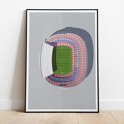 FC Barcelona Camp Nou Stadium Print