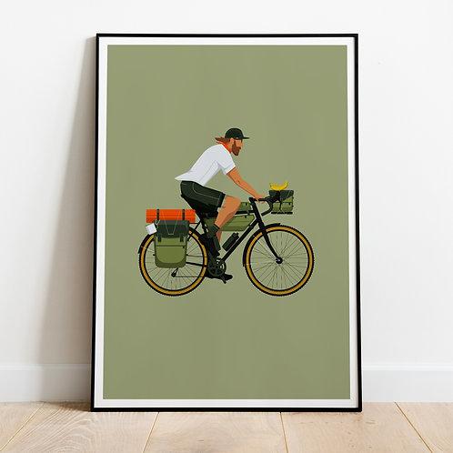 Bikepacker Print