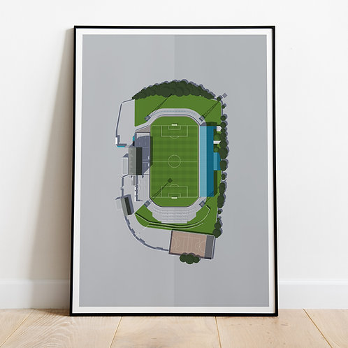 Wigan Athletic Springfield Park Stadium Print
