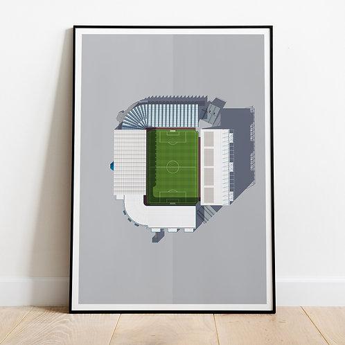 Manchester City Maine Road Stadium Print